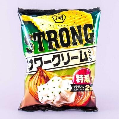 Koikeya Strong Potato Chips Sour Cream Onion (56G)