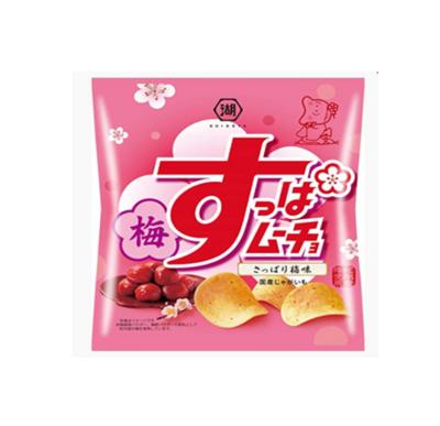 Koikeya Suppamucho Potato Chips Sour Plum Flavour (55G)