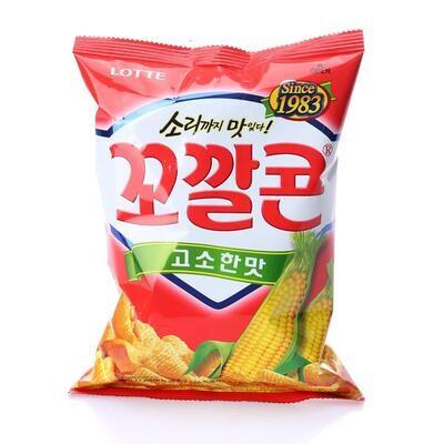 Lotte Original Popping Corn Chips (144g)