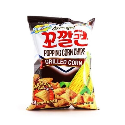 Lotte Grilled Corn Popping Corn Chips (144g)