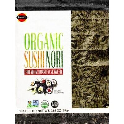 J-Basket Organic Sushi Nori (10 Sheets/25G)