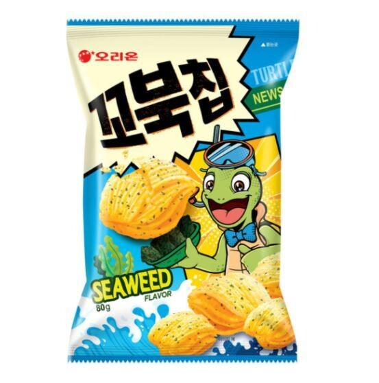 Orion Turtle Seaweed Flavour Chips (80G)