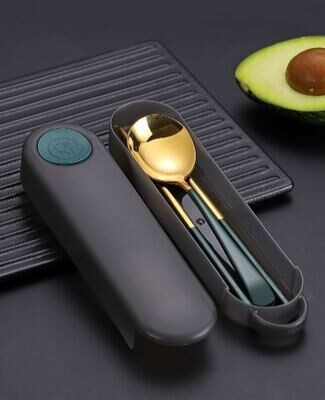 Portable Stainless Steel Utensils Set (2 Pieces)