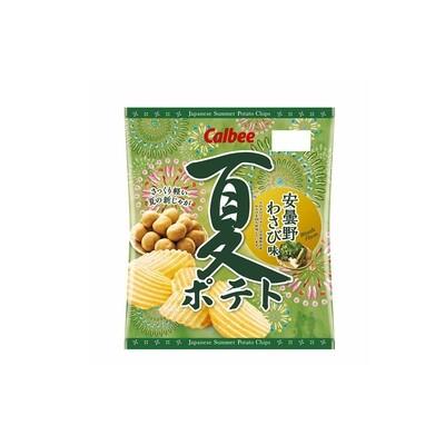 Calbee Summer Potato Chips Wasabi (65G)