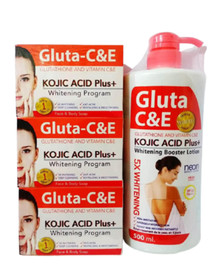 Gluta C & E Kojic Acid Plus Whitening Set