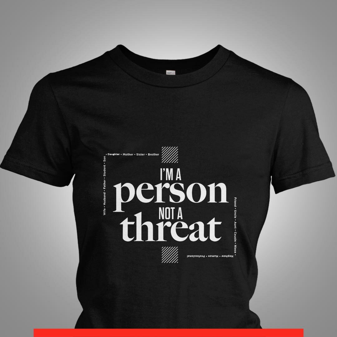 Signature I'm a Person...Not a Threat Square Tee 00002