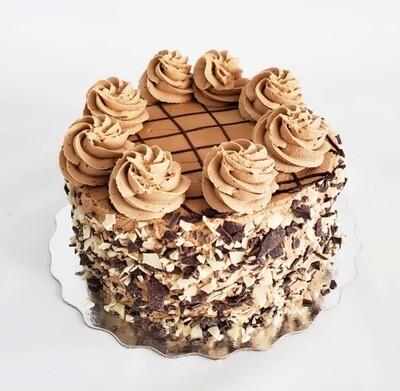 "Chocolate Mocha Buttercream Artisanal Cake 6"""