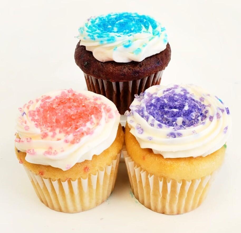 Mini Sugar Crystals Cupcakes