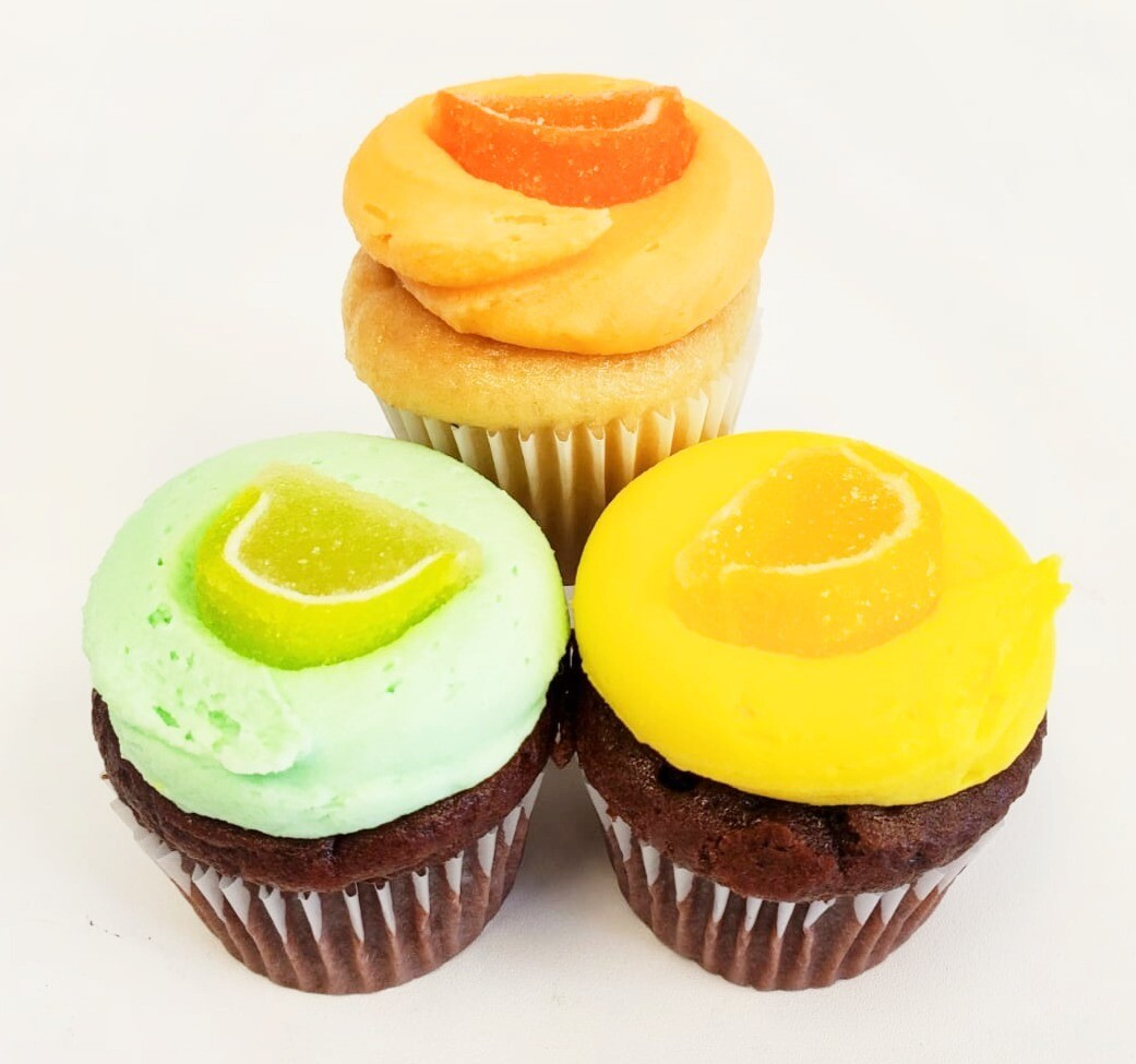Mini Tropical Cupcakes