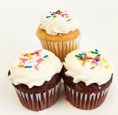 Mini Sprinkles Cupcakes