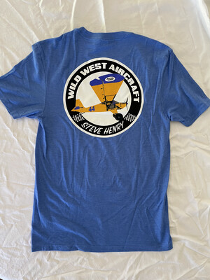 Light Blue Airplane tshirt
