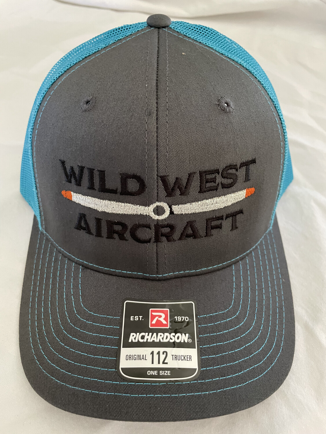 Grey and Light Blue Hat