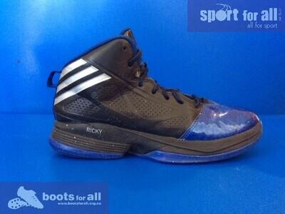 ADIDAS Ricky Rubio Mad Handle 2 Basketball Shoes US7 (Black/Silver/Royal) (Near-New) (EC506)