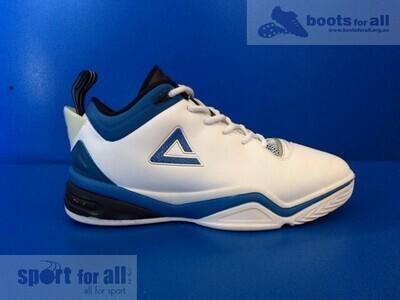 PEAK Jason Kidd IV Basketball Shoes US7 (White/Indigo Blue) (Near-New) (EC508)