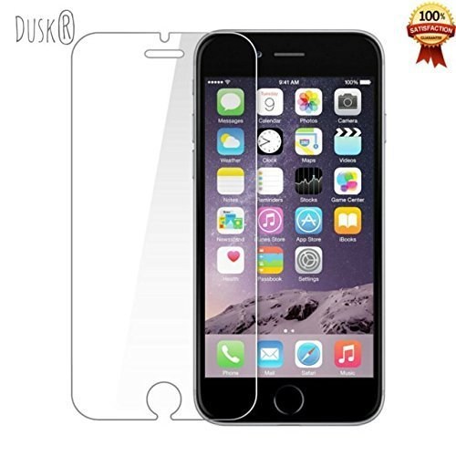 Dusk® Tempered Glass Full Coverage Screen Protector for Apple iPhone 6 / 6S 3D Curved Carbon Fibre For Maximum Protection 9H Hardness (iPhone6 4.7 inch) ((6 PLUS) WHITE)