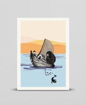 Mini print The boat