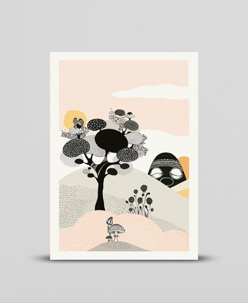 Mini print Talking tree