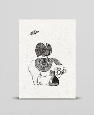 Mini print Woodland