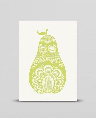 Mini print Green pear