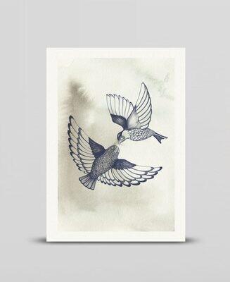 Mini print Two birds