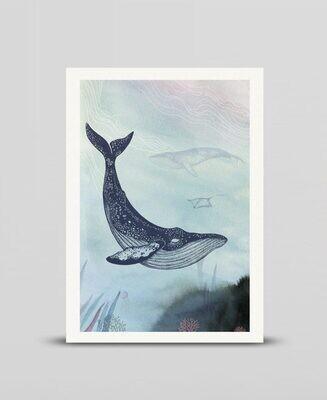 Mini print Whale