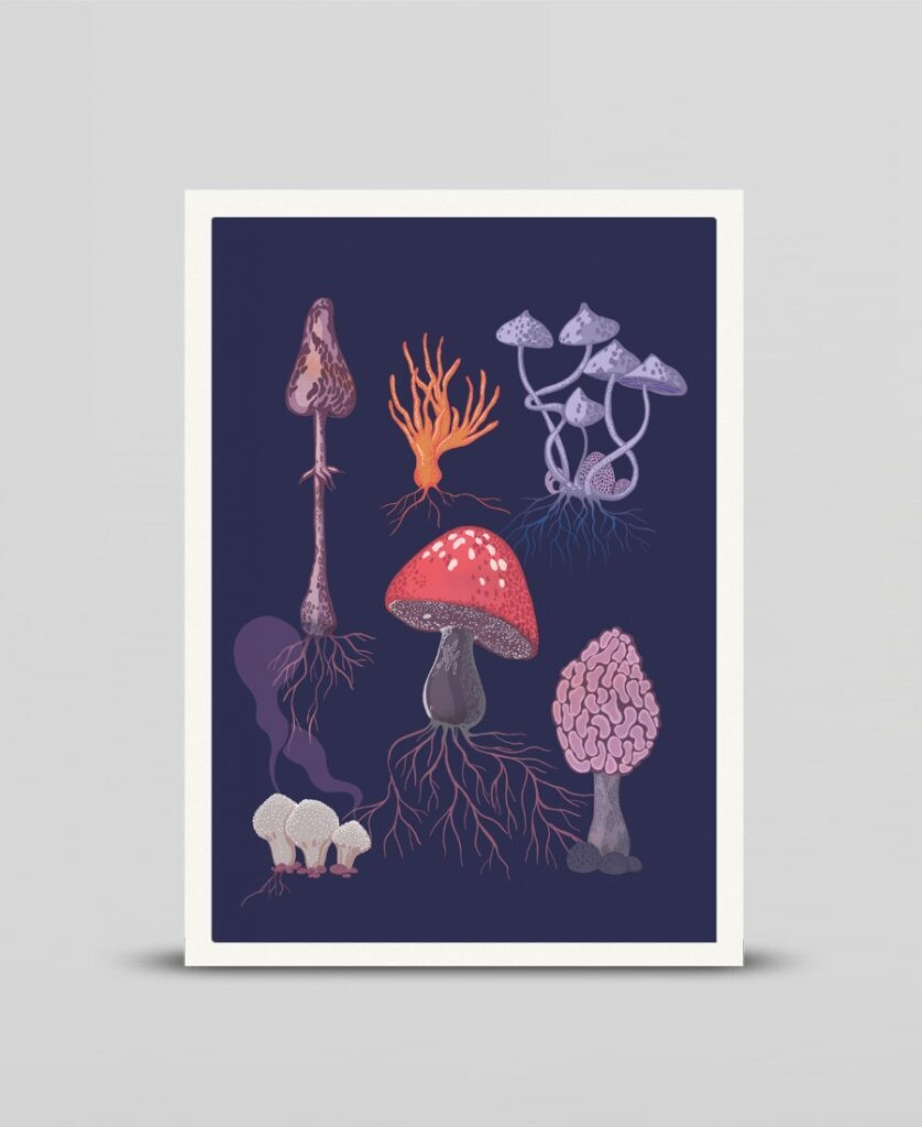 Mini print Fungi
