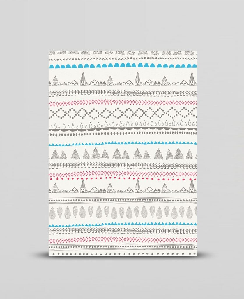 Mini print Nordic folk