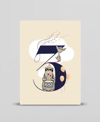 Mini print Happy three