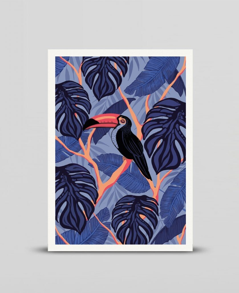 Mini print Toucan