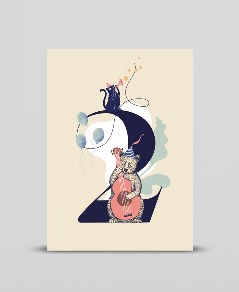 Mini print Happy two