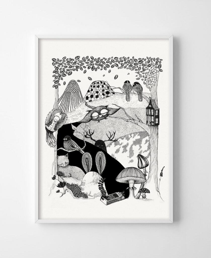 Poster Deep woods