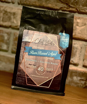 Chef Bob's Rum Barrel Aged Hot Buttered Rum Flavored Coffee {LIMITED EDITION}