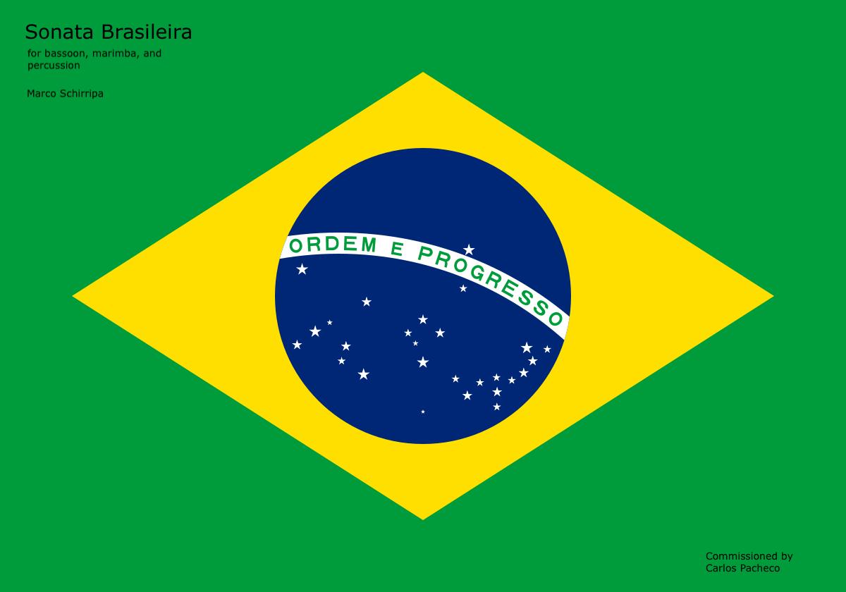 Sonata Brasileira, for bassoon/bari sax, marimba, and cajon