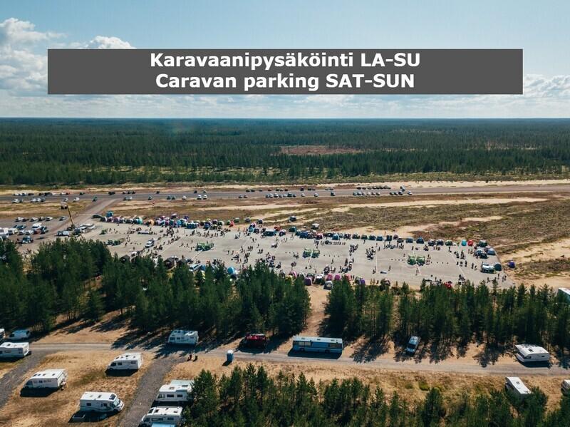 Karavaanipaikoitus la-su / Caravan parking Sat-Sun