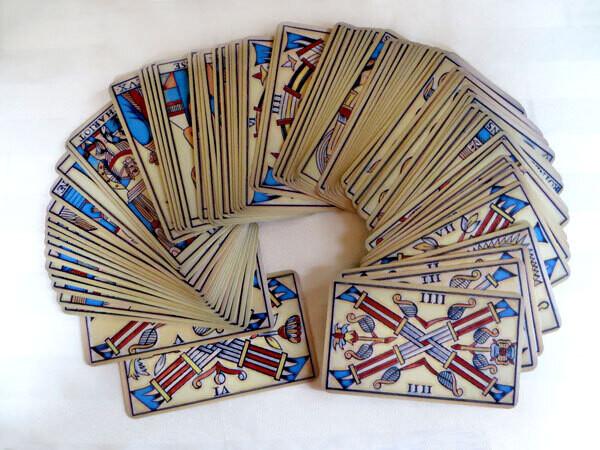 Tarot de Marseille (Colourful Grunge Design)