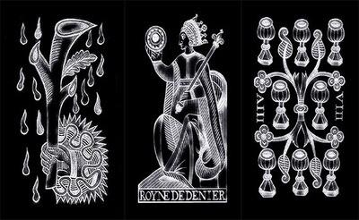 Tarot de Marseille (Chalk on Blackboard Design)