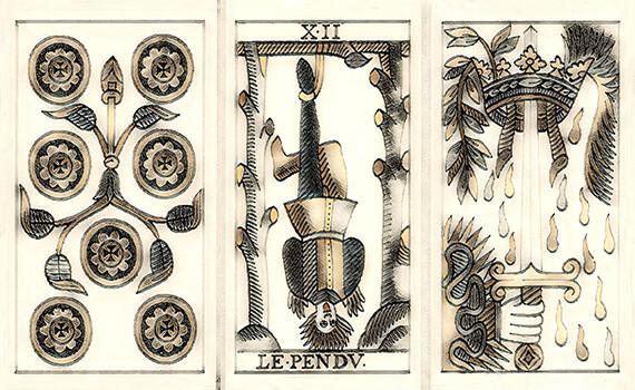 Tarot de Marseille (Vintage 'Distressed' Design)