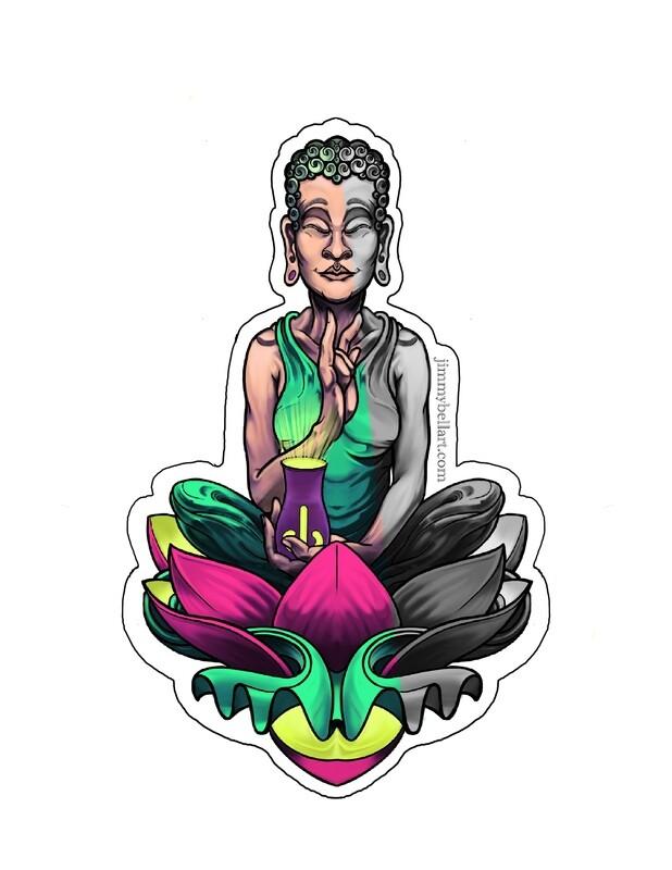 Buddha - vinyl sticker