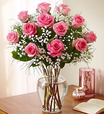 Rose Elegance - Premium Long Stem Pink Roses