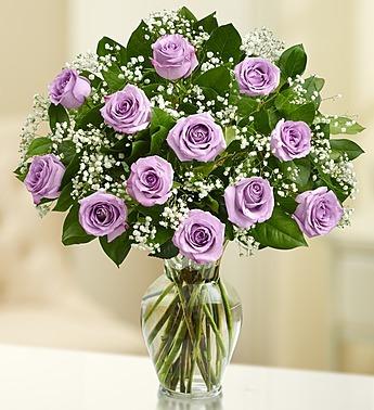 Rose Elegance - Premium Long Stem Purple Roses