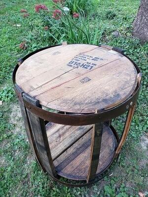 Matched Half Bourbon Barrel Tables
