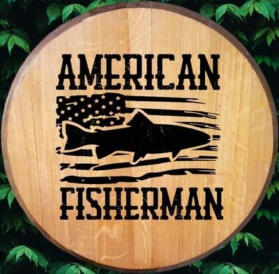 American Fisherman Bourbon Barrel Head