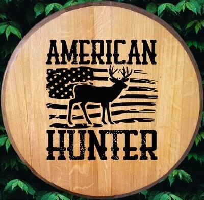 American Hunter Bourbon Barrel Head
