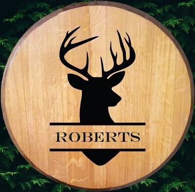Deer Bourbon Barrel Head