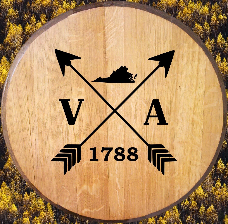 Virginia 1788 Bourbon Barrel Head