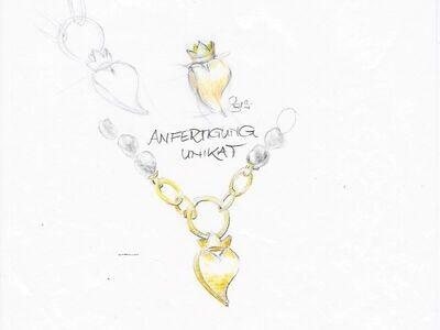 Unikat Einzelstück, Anfertigung in Gold, Weißgold, Platin individuell und einzigartig