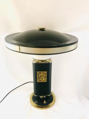 Seltene Eileen Gray `Mermaid´ Schreibtischlampe Tischlampe Designer Lampe Art Deco um 1930 /40!Frankreich Marke `Jumo´,signed French desk table lamp