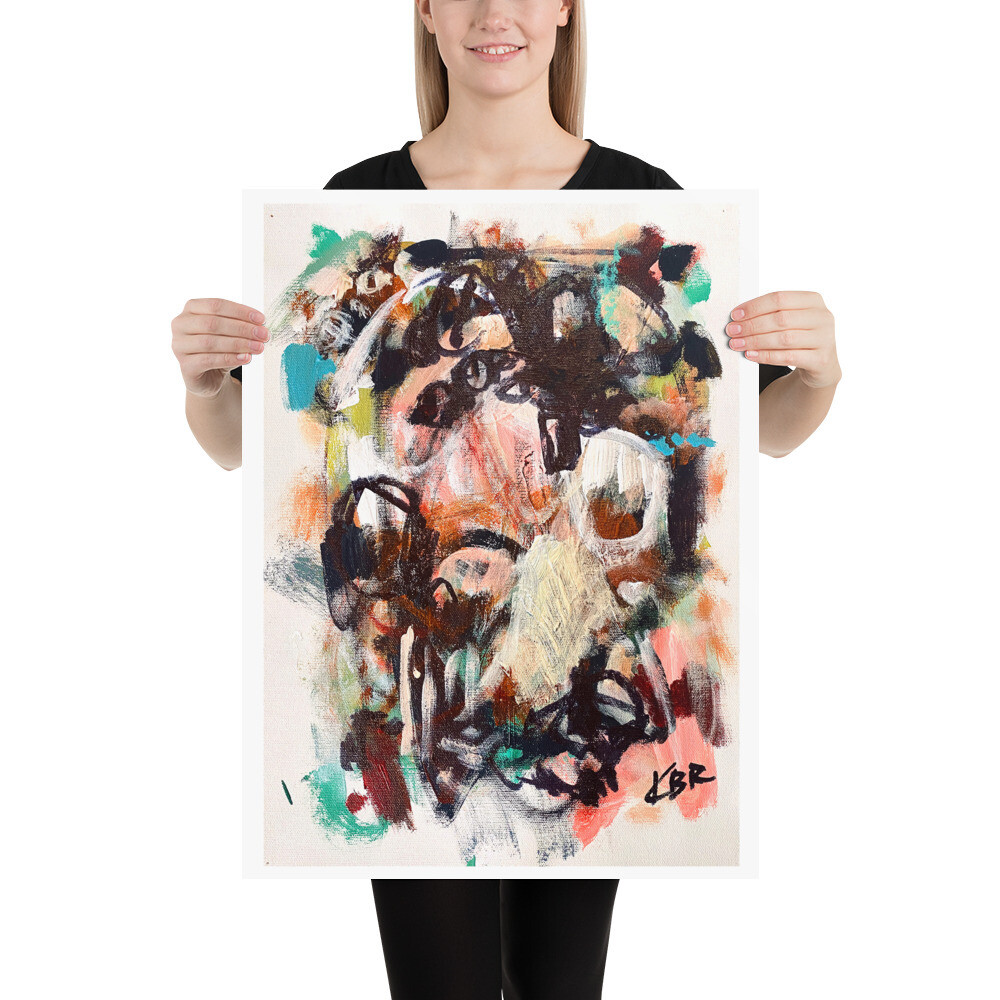 Abstract Art Poster by KBR; WILD BEASTS, Spring Collection 2021