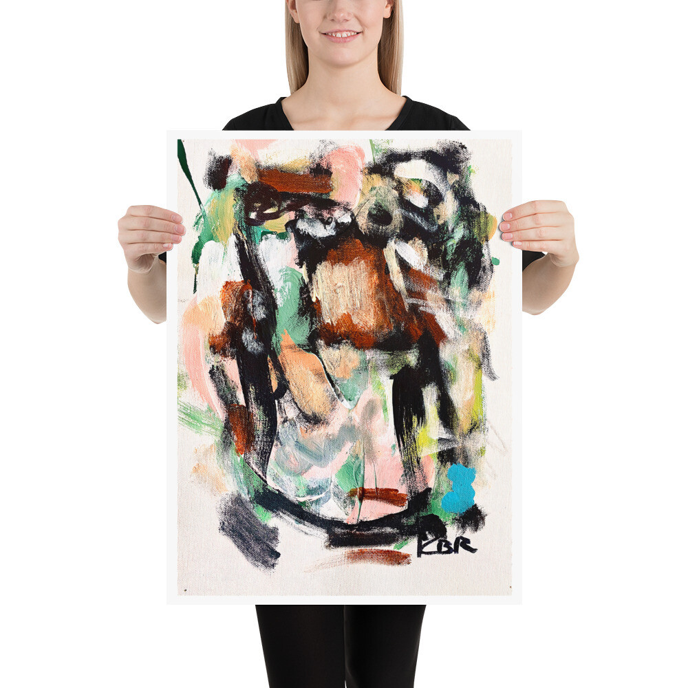 Abstract Art Poster by KBR; WILLA, Spring Collection 2021