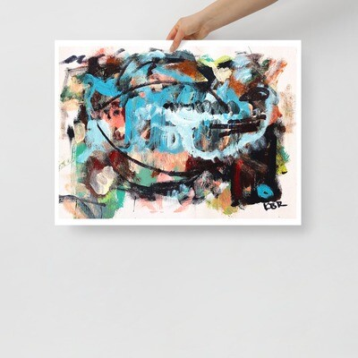Abstract Art Poster by KBR; WACONDA, Spring Collection 2021